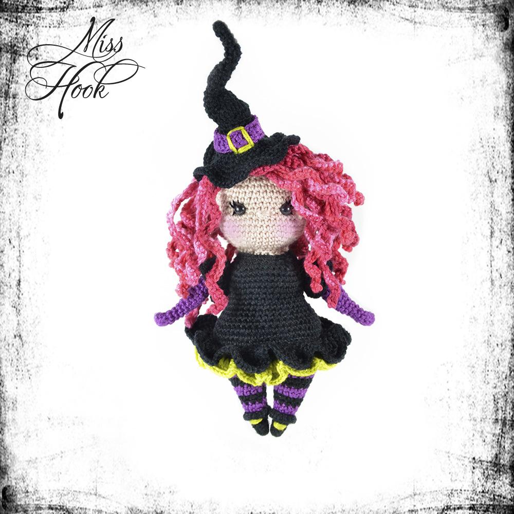 kleine Hexe Häkel-Anleitung DIY *Halloween* Part 1 | Amigurumi ... | 1000x1000